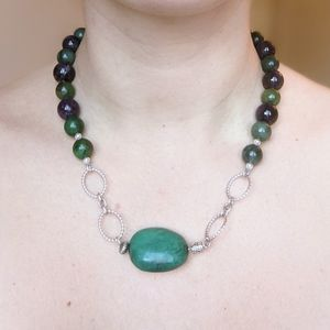 Amethyst, Jade & Turquoise Necklace